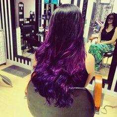 cabelo novo! #ombrehair #purplehair #hair #newhair #ombrombrehair #gorgeous