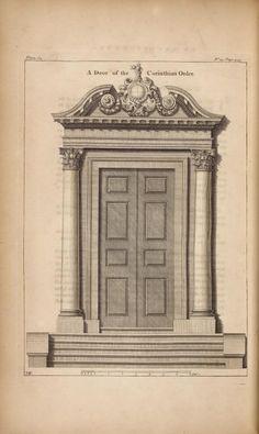 A door of the corinthian order. Neoclassical Architecture, Classic Architecture, Architecture Drawings, Historical Architecture, Architecture Plan, Beautiful Architecture, Architecture Details, Villa Design, Gate Design