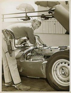 Steve McQueen: Don't know what I love more...the man, the car or the gun. Hubba!