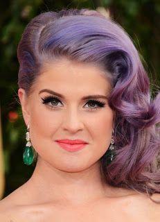 El blog de Paz Ortega: Tendencias difíciles del 2013: Color extremo en tu cabello. Kelly Osbourne con coloración lavanda