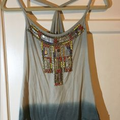 Beautifully beaded boho tank Beautifully beaded boho tank Forever 21 Tops Tank Tops