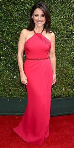 Emmy Awards 2014: Arrivals : Julia Louis-Dreyfus. Is it just me or is she aging amazingly well?