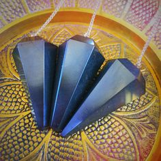 Hematite Pendulums for grounding, hope, trust and surrender to the Universe