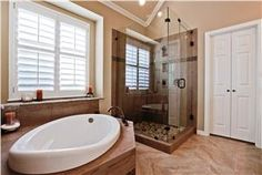 Transitional (Eclectic) Bathroom by Kristie Uzelac