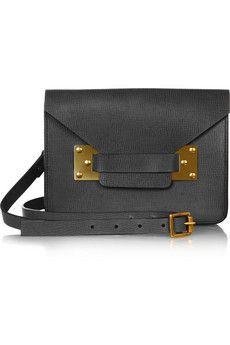 Envelope mini textured leather shoulder bag by Sophie Hulme