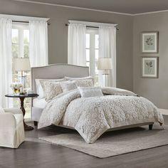 Suzanna Cotton Comforter Mini set Taupe King