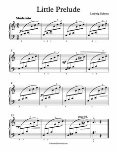 Free Piano Sheet Music – Little Prelude – Ludwig Schytte