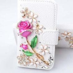 Focuson(TM) Samsung Galaxy S5 I9600 Case Luxury 3d Bling Crystal Rhinestone Wallet Leather Purse Flip Card Pouch Stand Cover Case + Bonus Candymaker Stylus (Rose and Flowers) @ble http://www.amazon.com/dp/B00J2RRIRA/ref=cm_sw_r_pi_dp_.g6Cvb1ZW264E