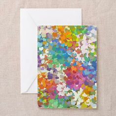 Pastel Confetti Hearts Greeting Cards (Pack of 10)  by Lee Hiller #Photography and Designs