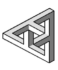 Take a look at this amazing Impossible Triangle Variation illusion. Browse and enjoy our huge collection of optical illusions and mind-bending images and videos. Optical Illusion Images, Optical Illusion Quilts, Illusion Drawings, Illusion Art, Optical Illusions, Impossible Triangle, Impossible Shapes, Op Art, Isometric Shapes