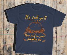 Graphic Tee Shirts, Autumn, Fall, Turkey, Thanksgiving, Pie, Pumpkin, Etsy Shop, Trending Outfits