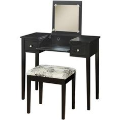 Linon Home Decor Vanity Set with Butterfly Bench, Multiple Colors