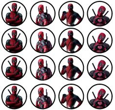 . Deadpool Theme, Deadpool Cake, Dead Pool, Valentines Day Care Package, Superhero Party, Paper Toys, Cupcake Toppers, Birthday Party Themes, Parties