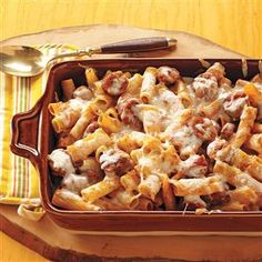 Baked Rigatoni & Sausage Recipe from Taste of Home