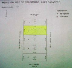 lote en SECTOR ALEDAÑO COMPLEJO D.G.I. Y COUNTRY SAN ESTEBAN RIO CUARTO. Medidas: 31,90 mts. de frente x 80,00 mts. de fondo. Superficie Total: 2.552,00 m2.
