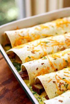 Overnight Potato & Pancetta Breakfast Enchiladas