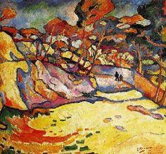 Promenade à l'Estaque, par Georges Braque ♥ Inspirations, Idées & Suggestions, JesuisauJardin.fr, Atelier de paysage Paris, Stéphane Vimond Créateur de jardins ♥