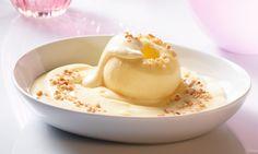 Warmer Apfel mit Vanille-Cremepudding - Schnelles Dessert aus der Mikrowelle