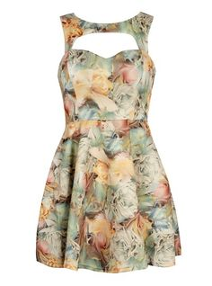 A fashion look from December 2012 featuring cutout dresses, peep toe booties and gold clutches. Browse and shop related looks. Green Heels, Nice Dresses, Summer Dresses, Pink Jewelry, Cutout Dress, Night Out, Floral Prints, Fashion Looks, Street Style
