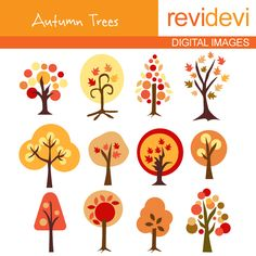 fall tree clip art | Autumn Tree Clip Art And Illustration Clipart Pictures