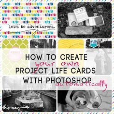 create project life cards This Photoshop script creates journaling cards in 4×6 and 3×4 from any templates and any digital papers & elements. Download free templates from allerliebsteanika.de and use your own digital scrapbook collection!