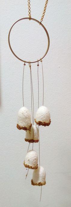 handmade silk cocoons jewelry - No88