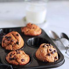 Υγιεινά μάφινς με μπανάνα | The one with all the tastes The One, Muffins, Cupcakes, Cookies, Breakfast, Desserts, Food, Crack Crackers, Morning Coffee
