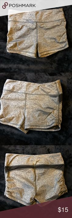 Women's Sport Shorts This cute pair of shorts is perfect to work out in. They won't hike up or budge. They'll fit a solid size 6 lady. The sides such up to show more skin, or pull them down straight for the regular shorts fit. LOTS of stretch on these bad boys. Victoria's Secret Shorts
