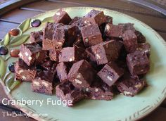 Cranberry fudge - maybe blueberries?