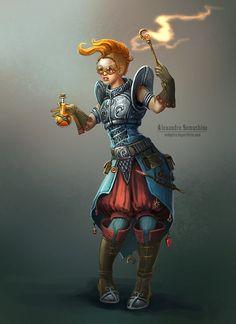 Female alchemist by Sedeptra.deviantart.com on @DeviantArt