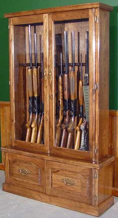 Cherry Gun Cabinet Plan   Rockler Woodworking Tools