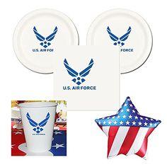 US Air Force Party Pack - 16 guests - cake plates, napkin... http://smile.amazon.com/dp/B01AFSZV3M/ref=cm_sw_r_pi_dp_SoMkxb193WRJF