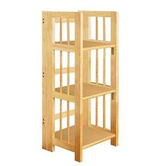 3 tier stackable wood #bookshelf #shelving display #storage folding unit,  View more on the LINK: 	http://www.zeppy.io/product/gb/2/271841547346/