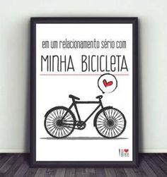 poster minha bicicleta - 30x40 cm