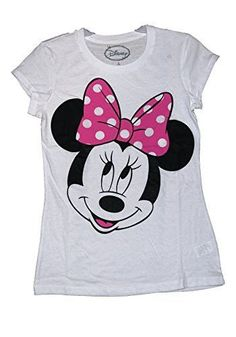 f46ad78518efbb Disney Classic Minnie Mouse Womens Pajama T Shirt Top - White