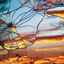 Broken Mirror/Evening Sky: Sunset reflected in shattered mirror, by Bing Wright Reflection Photography, Abstract Photography, Macro Photography, Amazing Photography, Photography Ideas, Photography Lighting, Glass Photography, Photography Equipment, Photography Courses