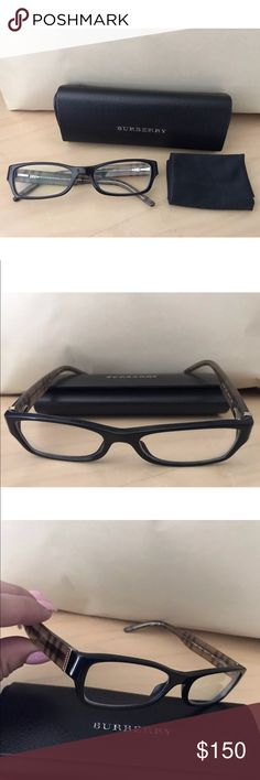 BURBERRY Eyeglasses Model: 2094 Model: 2094  Color code: 3001  Size: 52-17 135  Black plastic frame with classic Burberry logos on the temples and spring loaded hinges with clear demo lenses.   These frames can be customized with your prescription.   Eyeglasses pictured and Authentic BURBERRY case only.  I bought these from Pearl Vision and I rarely used only for reading.  But I went back to my original pair they are my favorite.  You won't be disappointed they are nice classy frame…