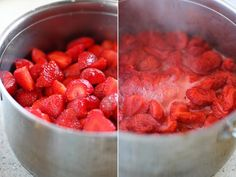 preparare gem de capsuni Raspberry, Strawberry, Preserves, Pickles, Recipies, Goodies, Food And Drink, Canning, Fruit