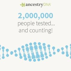 #AncestryDNA is the first company to reach 2 million customers! Learn what this means for you: http://ancstry.me/28NL3ht #dna #genetics #geneticgenealogy #genealogy #familyhistory #familytree #ancestry #science #tech   #DNA #genetics #genotyped #geneticgenealogy #genealogy #familyhistory #familytree #heritage #roots #ethnicity #ancestry