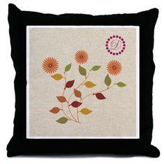 Custom Thanksgiving Floral Pastel Palette Throw Pillow.