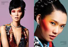Tao Okamoto by Chris Craymer for Glass Magazine Summer 2013 2 » Eyeshadow Lipstick