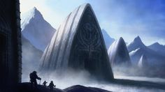 alien at_the_mountains_of_madness cthulhu_mythos gate mountain realistic scientist snow temple Call Of Cthulhu Rpg, Mountains Of Madness, Lovecraftian Horror, Eldritch Horror, Modern Magic, Horror Fiction, Orzo, Fantasy Landscape, Manga Pictures