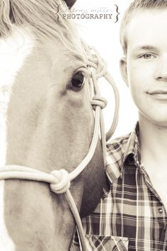 HS Senior boy with horse ©Whitney Miller Photography 2013
