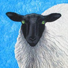 Suffolk Sheep #4 by Susan Brubaker Knapp at Blue Moon River