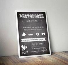 PhotoCall-Event.com Affiche/Pancarte PhotoBooth 40X50 cm