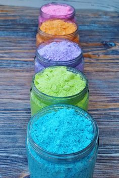 how to make colored powder fast