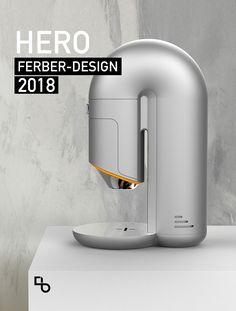 Coffee maker on Behance Coffee Machine Design, Coffe Machine, Coffee Design, Minimal Design, Modern Design, Industrial Design Sketch, Id Design, Travel Design, Lighting Design