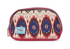 TOMS multi stripe mix lagoon cosmetic bag