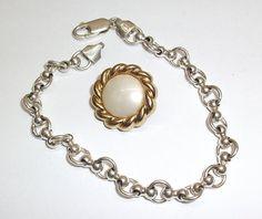 Schönes altes Silberarmband Kugelarmband  von Schmuckbaron auf Etsy