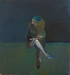 """Nathan Oliveira, """"Seated Woman Fur Coat,"""" 54 x 50 inches, Oil on Canvas, 1961    Private Collection"""
